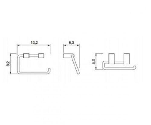 Держатель для запасной туалетной бумаги JIKA PURE (H3843B20041001)