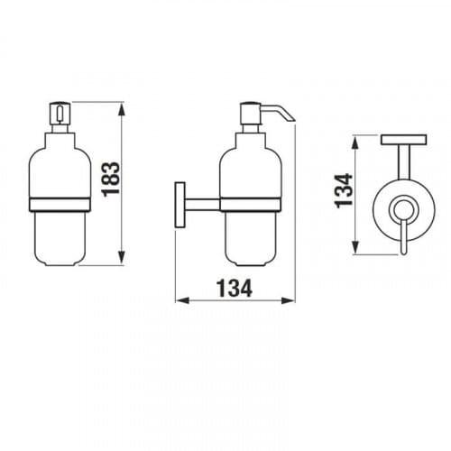 JIKA MIO H3847450040001 дозатор настенный для мыла