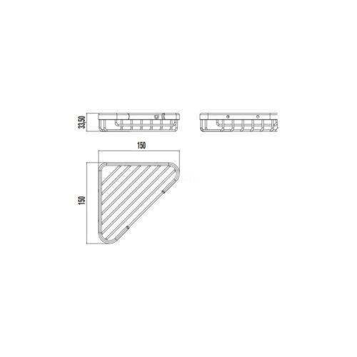 Полочка для ванной JIKA GENERIC угловая ХРОМ H3853D30040301