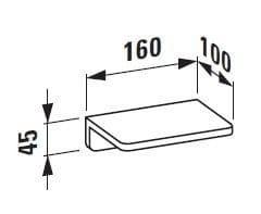 Полочка для ванной H3856810040001 Laufen LB3