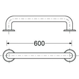 Держатель полотенца JIKA (H3897210030001) 600мм
