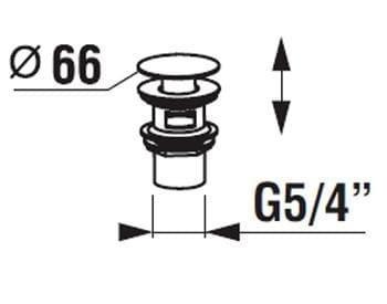 Донный клапан Click-Clack JIKA Cubito H3917100040001