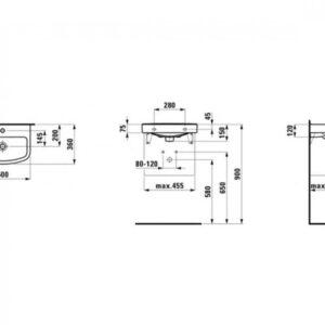 Умывальник Laufen Kompas 50×36 H8101500001041