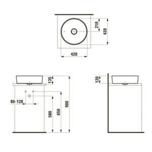 Раковина KARTEL BY LAUFEN (42х42см) H8123310001121