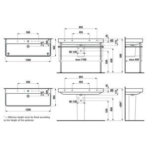 Раковина подвесная Laufen Pro S H8149650001071