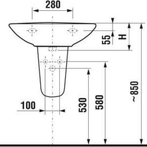 Полупьедестал для раковины JIKA Lyra (H8193910000001)
