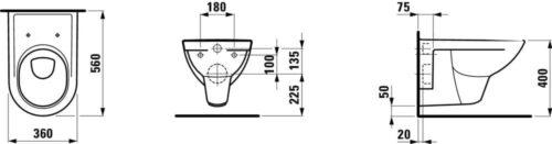 Унитаз подвесной Laufen Pro Бежевый H8209500180001