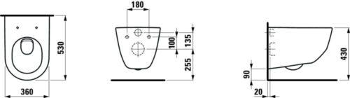 Унитаз подвесной Laufen Pro Бежевый H8209560180001