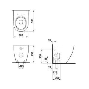 Унитаз напольный Laufen Pro New RIMLESS H8229560000001