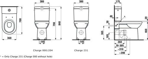 Унитаз напольный Laufen Pro Белый H8249550000001