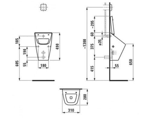 Уринал Laufen Villa (H8411410000001)