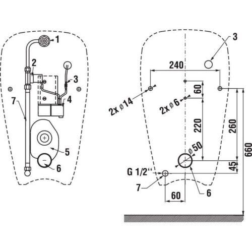 Писсуар JIKA Golem (H8430700004891) антивандальный на батарейках