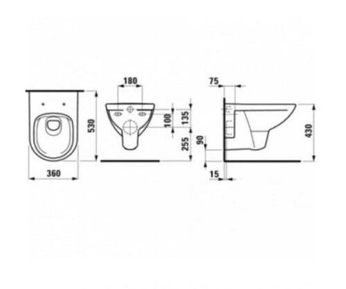Унитаз подвесной Laufen Pro H8669500000001 c сиденьем