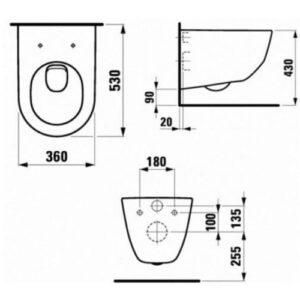 Унитаз подвесной Laufen Pro H8669530000001 c сиденьем slim