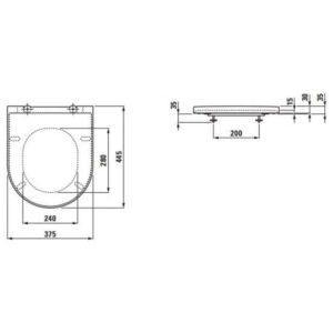 Крышка для унитаза Laufen K by Laufen (H8913330000001) soft close