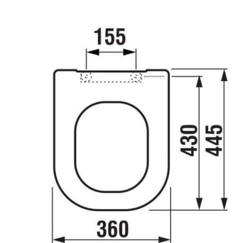 Сиденье для унитаза JIKA Olymp Deep H8936103000631