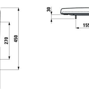 Сиденье для унитаза Laufen Pro H8939553000001