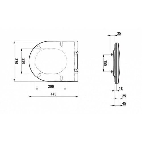 Крышка для унитаза Laufen Pro Slim, Soft-Close H8989660000001