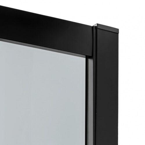 Кабина New Trendy полукруглая R55 NEW VARIA BLACK (90x90x190) K-0566 графит