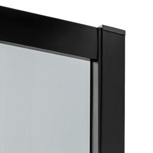 Кабина New Trendy полукруглая R55 NEW VARIA BLACK (90x90x190) K-0566