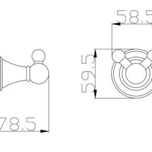 Крючок двойной Rav Slezak Morava MKA0102SM  бронза