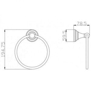 Кольцо для полотенец Rav Slezak Morava MKA0104SM бронза