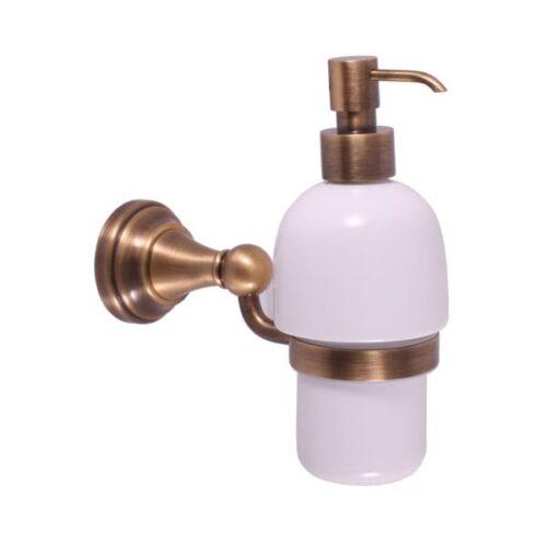 Дозатор для жидкого мыла настенный Rav Slezak Morava MKA0303SM  бронза