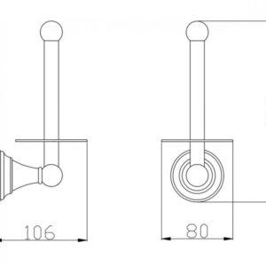 Вертикальний бумагодержатель SLEZAK RAV MKA0402SM бронза