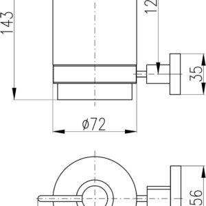 Дозатор жидкого мыла Rav Slezak Yukon YUA0303CMAT