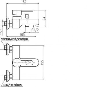 Смеситель для ванны Rav Slezak Zambezi ZA054.5