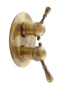 Змішувач вбудовується для душа Rav Slezak Labe Mosaz бронза L086SM