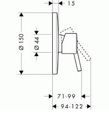 Смеситель для душа, однорычажный HANSGROHE Talis S (32675000)
