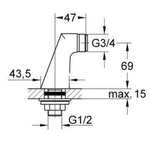 Крепление Grohe для вертикального монтажа смесителей (12030000)