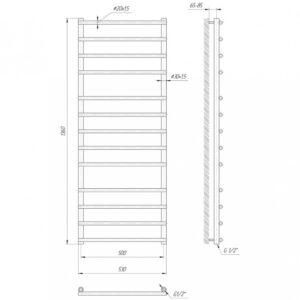 Водяной полотенцесушитель Турин 1360×530/500