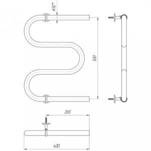 Водяной полотенцесушитель Змейка ∅ 30 530×400/500
