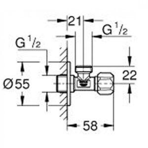 Grohe водозапорный вентиль 3/8 (22025000)