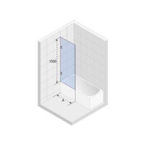 Ширма (шторка) для ванны SCANDIC S409-80