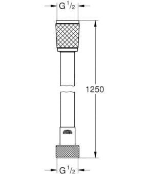 Grohe Relexaflex (28150001) шланг для душа 1250 мм