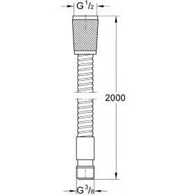 Grohe Relexaflex (28158000) шланг для душа металлический 2000 мм