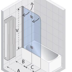 Ширма (шторка) для ванны NAUTIC N500 UNIVERSAL 1000