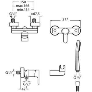 Змішувач для душа L20 A5A2009C02 Roca