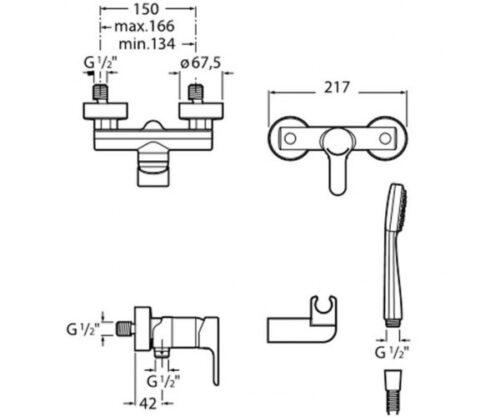 Смеситель для душа L20 A5A2009C02 Roca