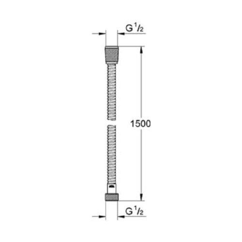 Душевой шланг Grohe Relexa Flex 45973000