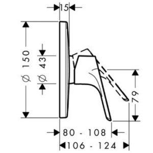 Змішувач для душу, одноручковий HANSGROHE Focus E2 (31965000)