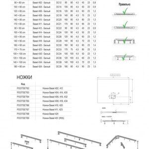 Душевой поддон RIHO BASEL DC12 (90×80) 402