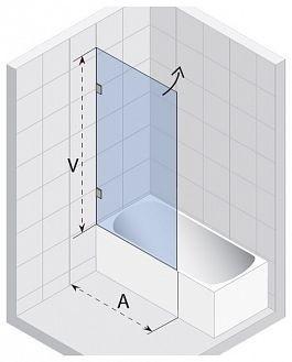 Шторка (ширма) для ванны SCANDIC S108-75