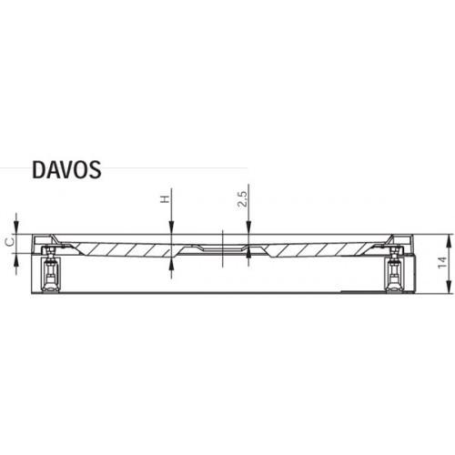Душевой поддон RIHO Davos140 x 90 +панель+ножки DA65