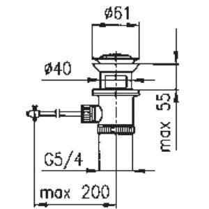 Донный клапан Armatura 660-054-00