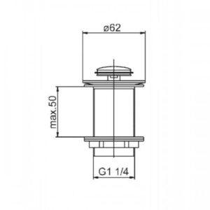 Донный клапан — малый, блистер Klik-Klak 660-354-00-BL