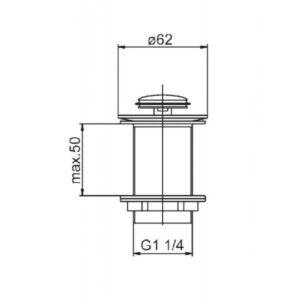 Донный клапан — малый Klik-Klak 660-354-00